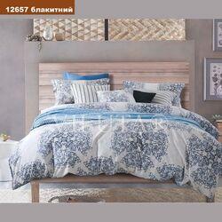 Комплект постельного белья Вилюта Платинум Семейный 12657 голубой