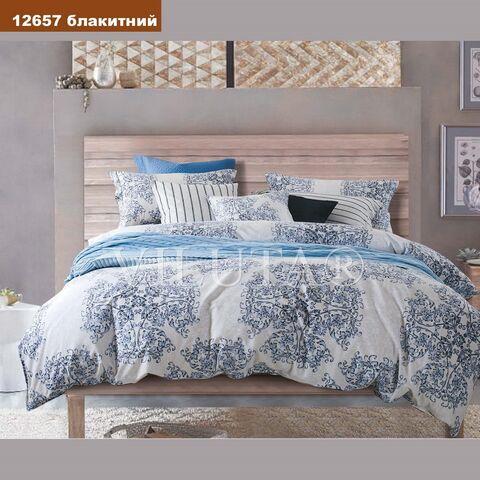 Комплект постельного белья Вилюта Платинум Полуторный 12657 голубой