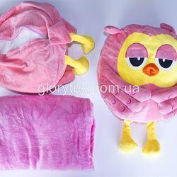 Подушка-трансформер детская 3 в 1 Сова арт.0001