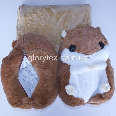 Подушка-трансформер детская 3 в 1 Хомячок арт.0002