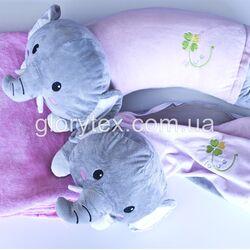 Подушка-трансформер детская 3 в 1 Слоник арт.0006