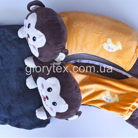 Подушка-трансформер детская 3 в 1 Обезьянка арт.0007