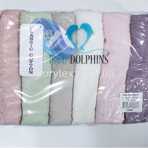 Полотенце лицевое махровое 50x90 Two Dolphins арт.2151