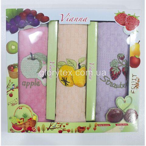 Набор кухонных вафельных полотенец 45x65 Vianna арт.2228
