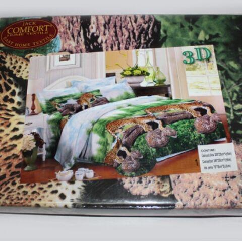 Постельный комплект евро LUX Comfort 3D микросатин арт.742