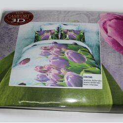 Постельный комплект евро LUX Comfort 3D микросатин арт.735