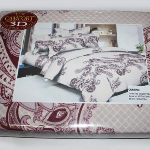 Постельный комплект евро LUX Comfort 3D микросатин арт.746