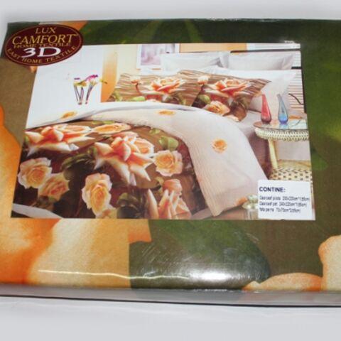 Постельный комплект двуспальный LUX Comfort 3D микросатин арт.717