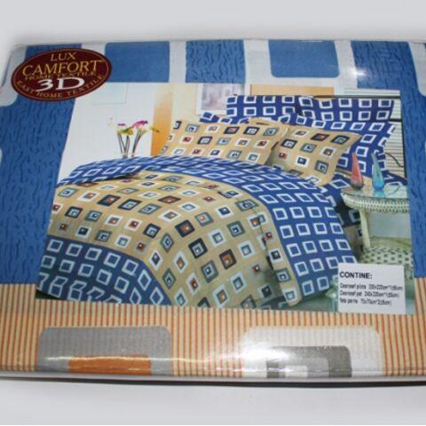 Постельный комплект евро LUX Comfort 3D микросатин арт.734