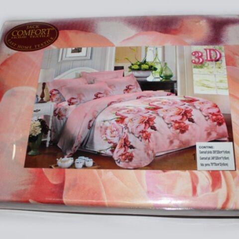 Постельный комплект двуспальный LUX Comfort 3D микросатин арт.727
