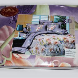Постельный комплект полуторный LUX Comfort 3D микросатин арт.714