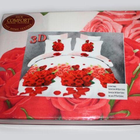 Постельный комплект евро LUX Comfort 3D микросатин арт.740
