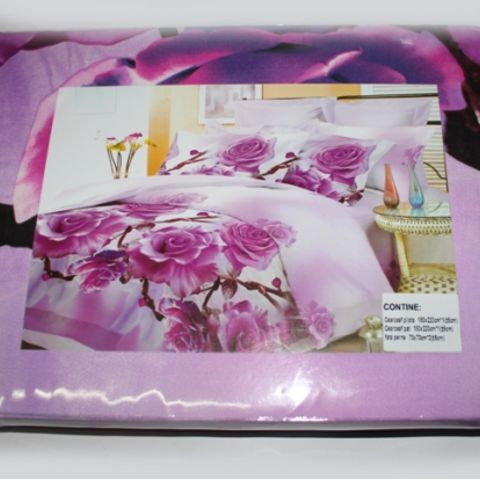 Постельный комплект двуспальный LUX Comfort 3D микросатин арт.728