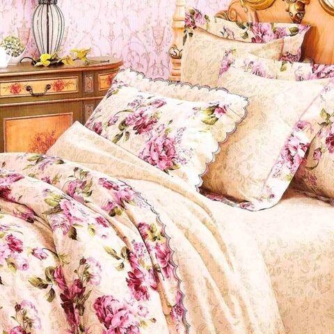 Романтика Евро комплект постельного белья Вилюта Платинум