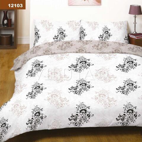 12103 Семейный комплект постельного белья Вилюта Платинум