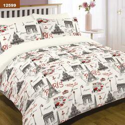 12599 Двуспальный комплект постельного белья Вилюта Ранфорс