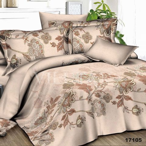 17105 Двуспальный комплект постельного белья Вилюта Ранфорс