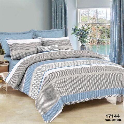 17144G Полуторный комплект постельного белья Вилюта Ранфорс голубой