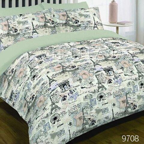 9708 Полуторный комплект постельного белья Вилюта Платинум